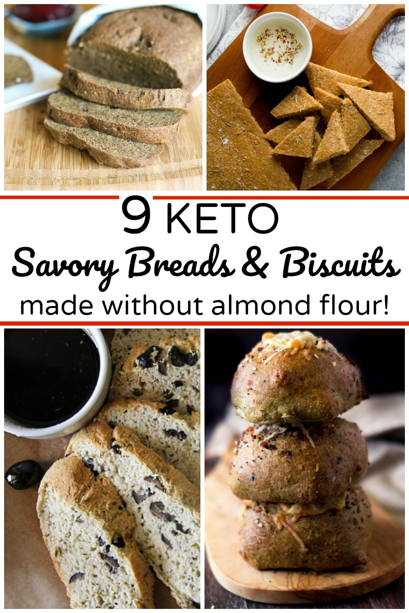 9 keto savory breads and biscuits made without almond flour