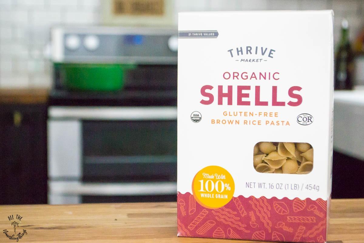 box of thrive market organic shells