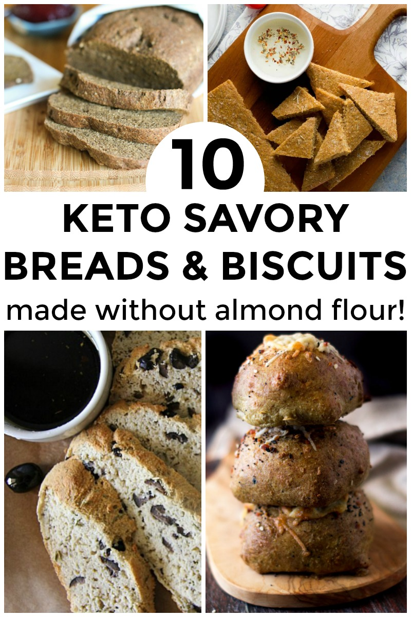 10 keto savory breads and biscuits made without almond flour