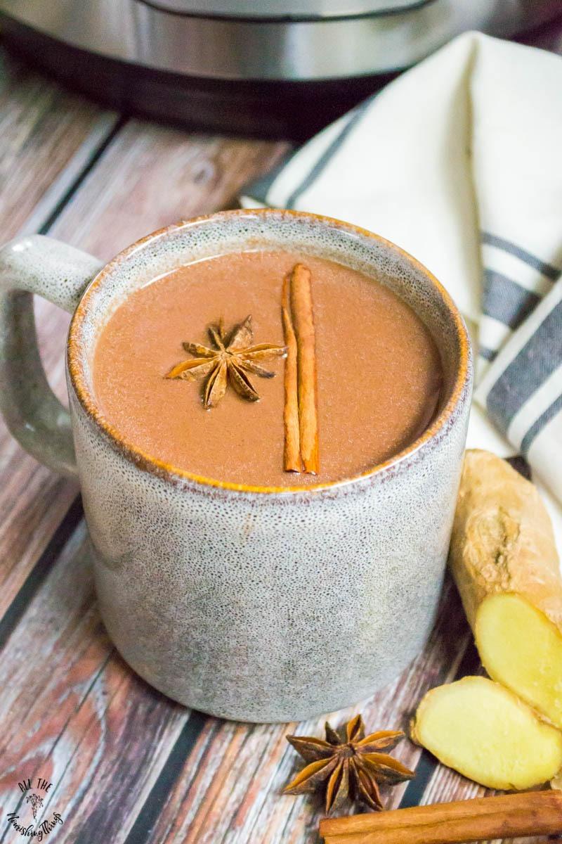 mug of instant pot hot cocoa