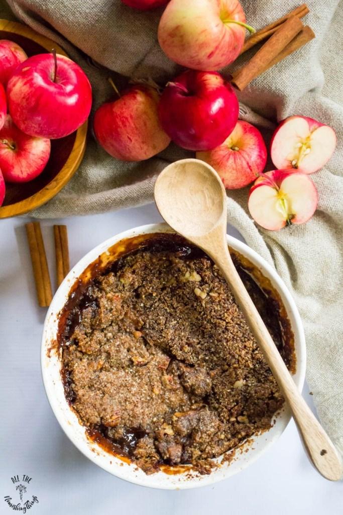 Paleo Instant Pot Apple-Pecan Crumble (grain-free, dairy-free, vegan)