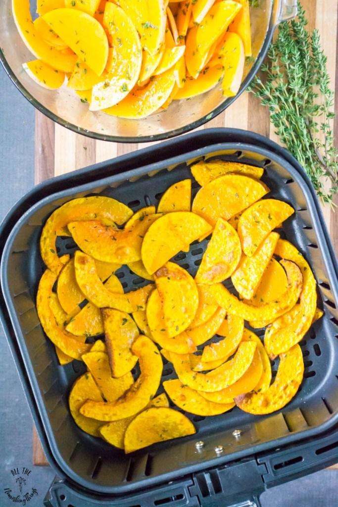 3-Ingredient Air Fryer Roasted Butternut Squash (paleo, Whole30, vegan)