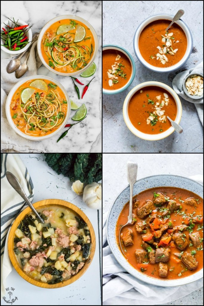 35+ Dairy-Free Keto Instant Pot Soup Recipes (with Whole30, vegan, & AIP options, too!)