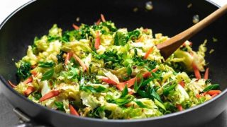 Paleo Chinese Shredded Cabbage Stir-Fry