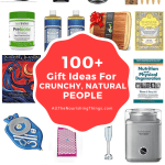 collage of images of gift ideas for crunchy natural people