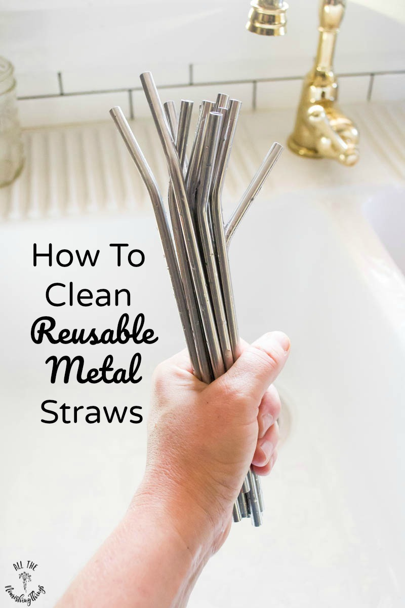 how to clean reusable metal straws