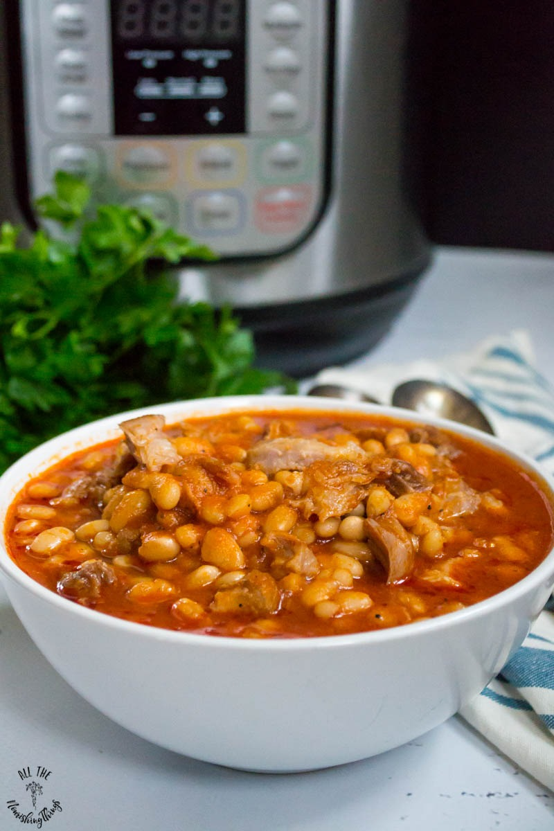 Soaked Instant Pot Pork 'n Beans from All the Nourishing Things
