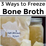 frozen bone broth with text overlay