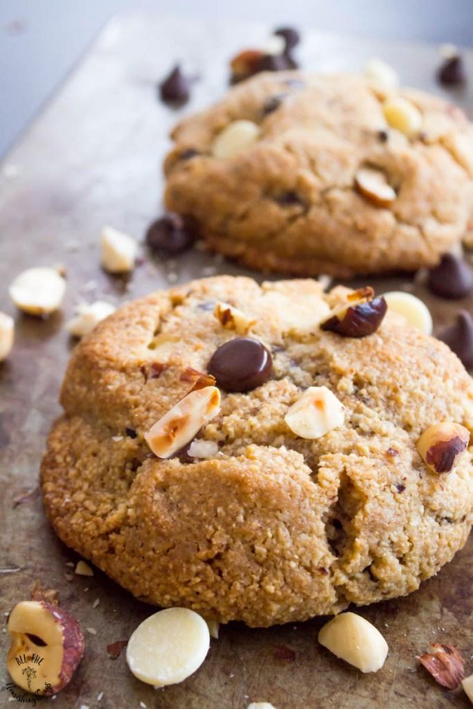 Keto Chocolate Hazelnut Cookies (grain-free & gluten-free)