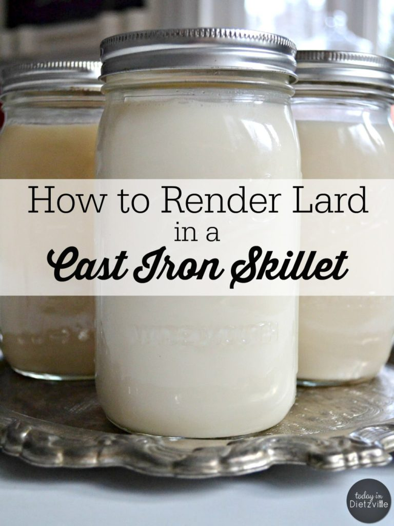How To Render Lard In A Cast Iron Skillet