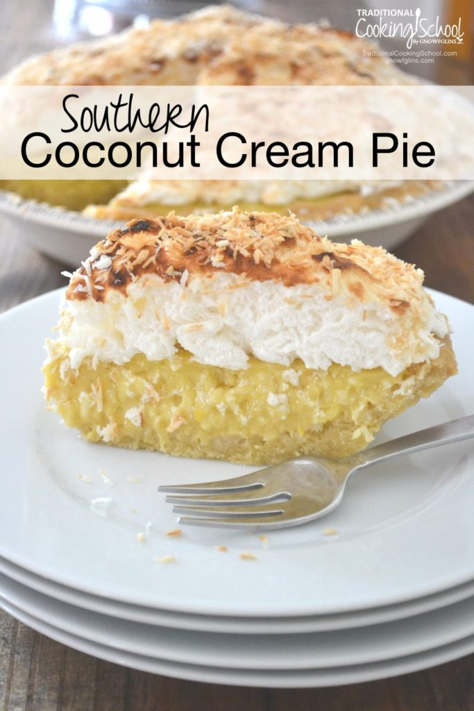 With no refined flour or sugar, no margarine, and no boxed pudding mix, this Paleo Coconut Cream Pie is lightly sweetened and full of nourishing fats.