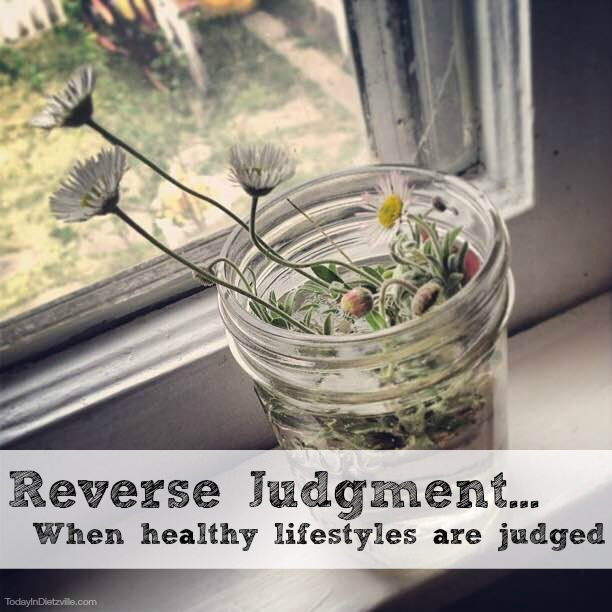 Reverse Judgment: When Healthy Lifestyles Are Judged