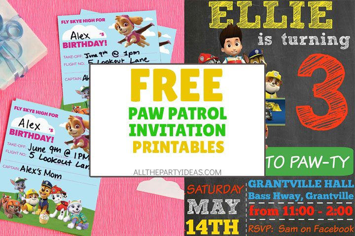 9 diy paw patrol invitation ideas free