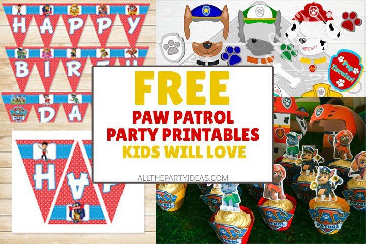 Free Paw Patrol Printables Party Games More