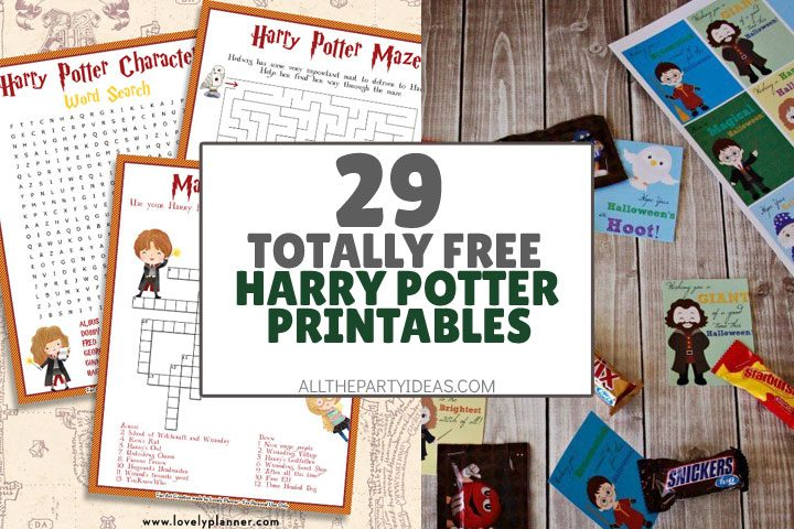 29 free harry potter printables party