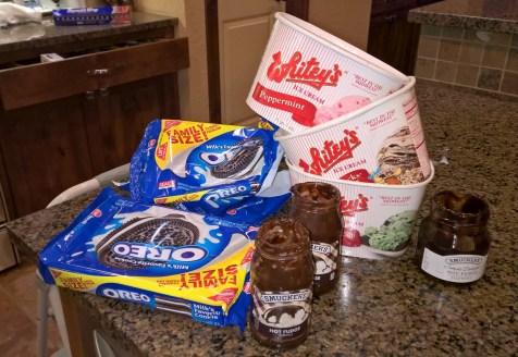 Ice cream bar mess!