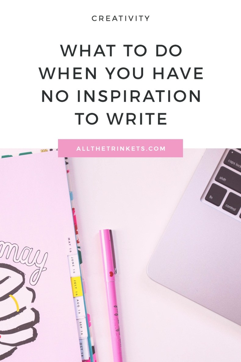 Have no inspiration to write? Read on for 5 things to try when you have zero inspiration. #content #writing
