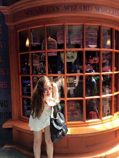 Puking pastilles at Weasley Wizard Wheezes