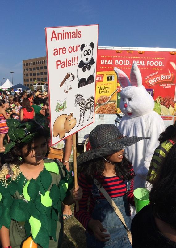 Costume parade at Veggie Fest Chicago