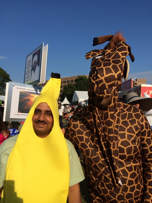 Costumed characters welcomed all to Veggie Fest Chicago.