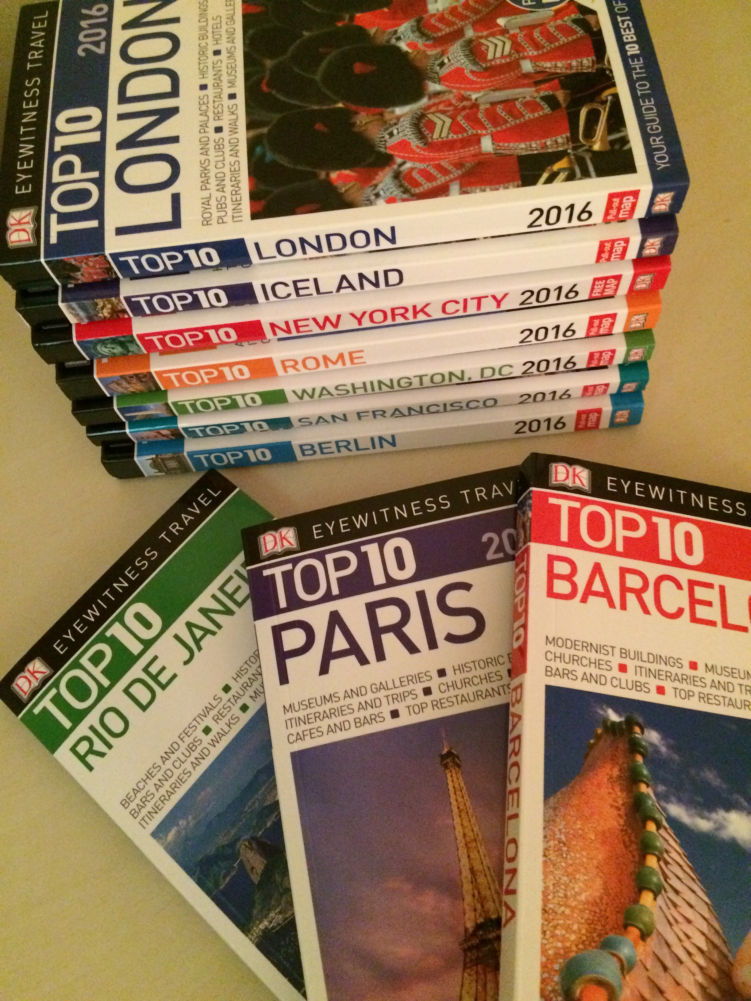 "New for 2016: Updated ""Top 10"" Guidebooks by DK Eyewitness Travel"