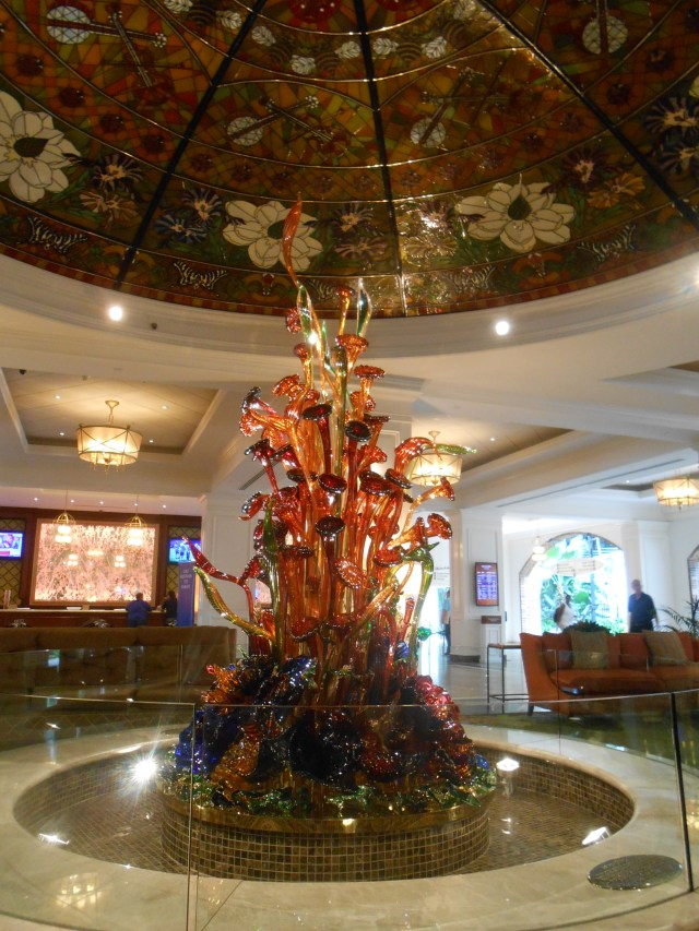 Glass sculpture in the Cascades lobby.
