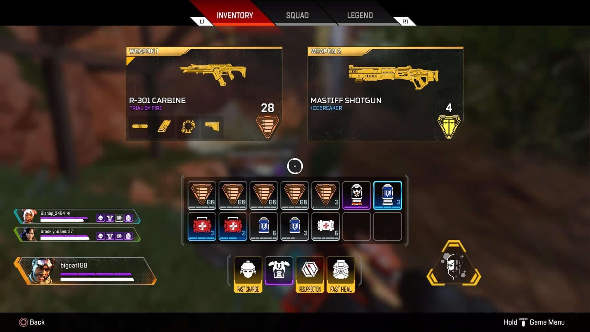 Apex Legends Gold Items Abilities Self Revive Shield Auto