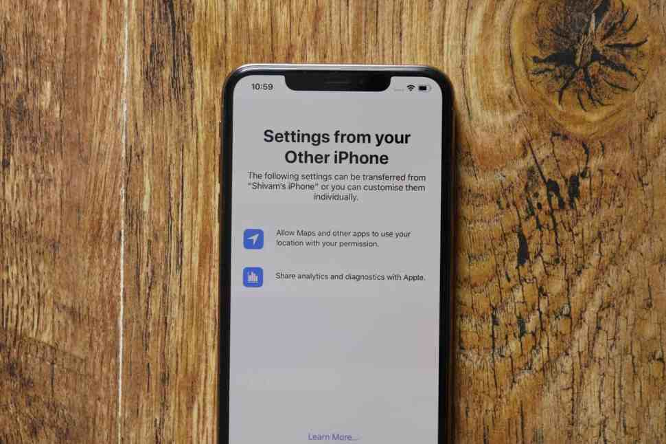 iPhone Transfer Settings From Your Other iPhone