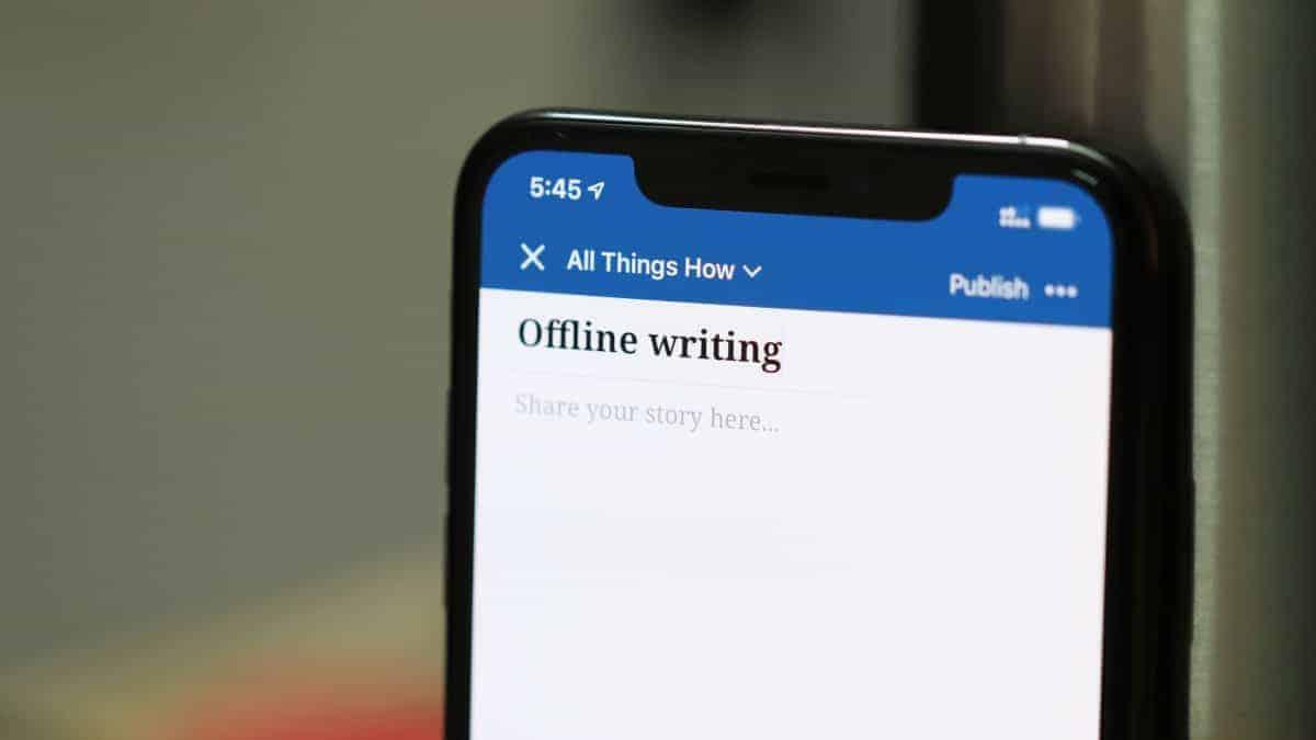 WordPress Offline Writing iPhone App