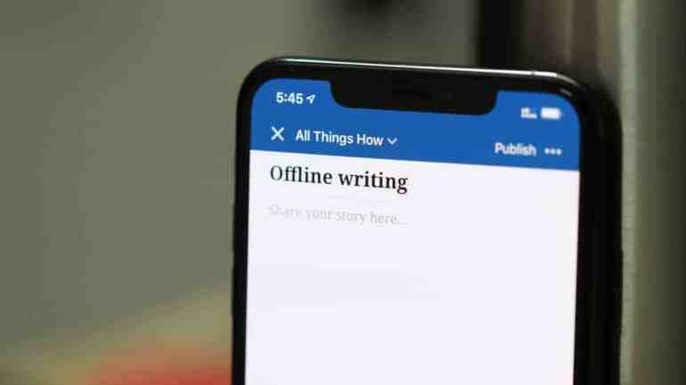WordPress Offline Writing iPhone App