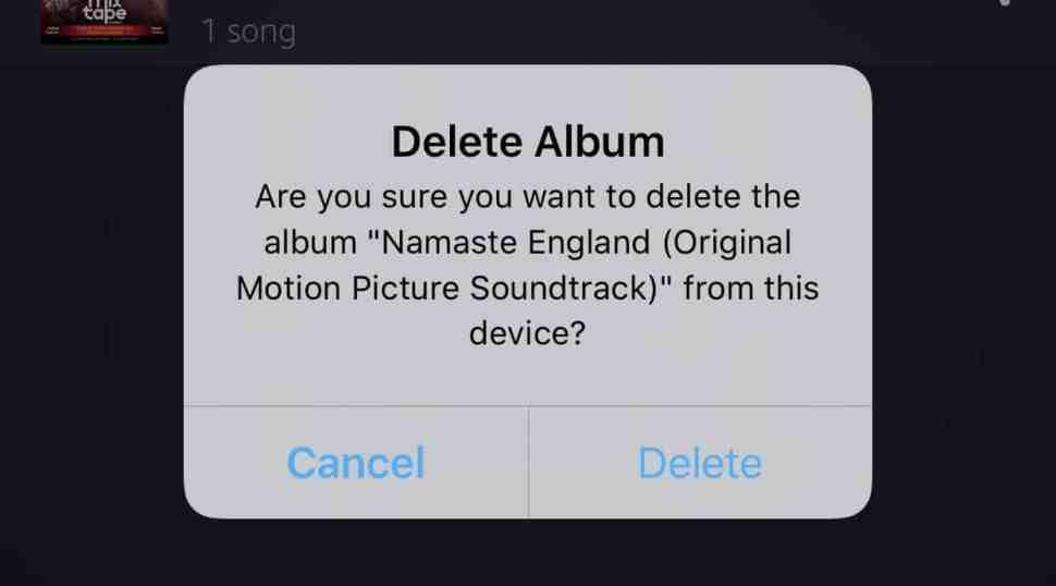 Confirm Delete Album Amazon Music iPhone