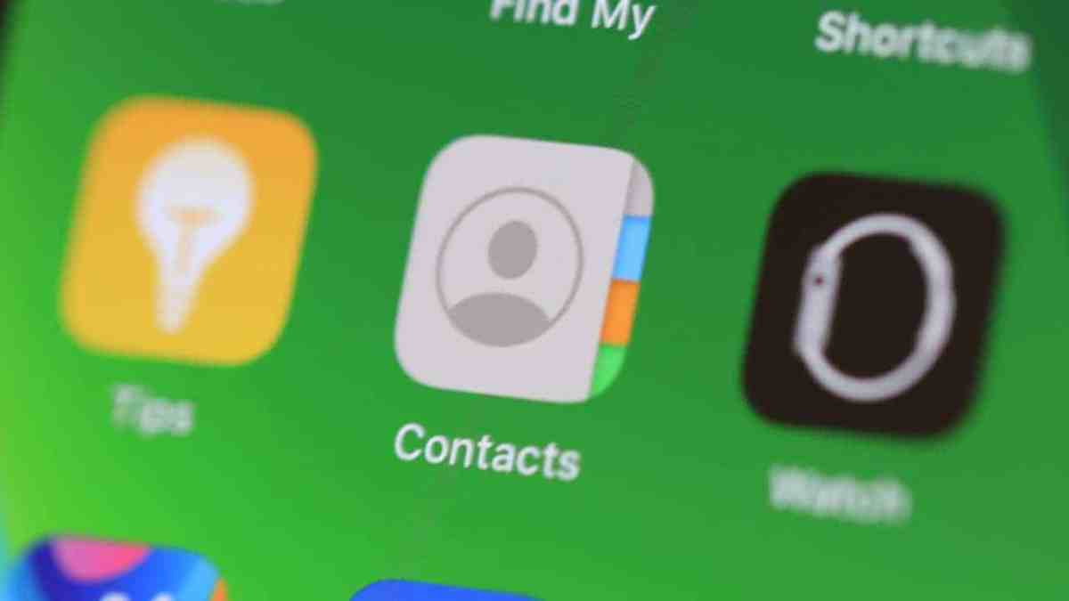 iPhone Contacts App Icon Home Screen