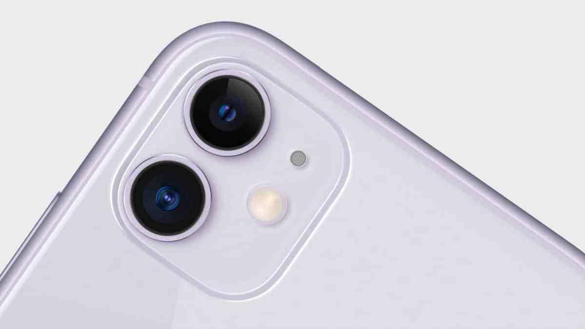iPhone 11 camera close up