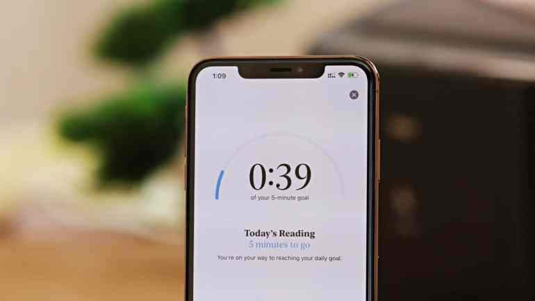 Apple Books Reading Goals on iPhone