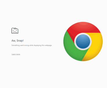 Aw, snap! Something went wrong while displaying this webpage error in Chrome