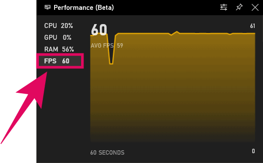 Show FPS in Windows 10 Game Bar Performance Overlay