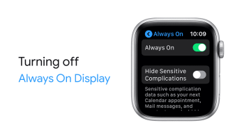 Turning Off Always On Display on Apple Watch