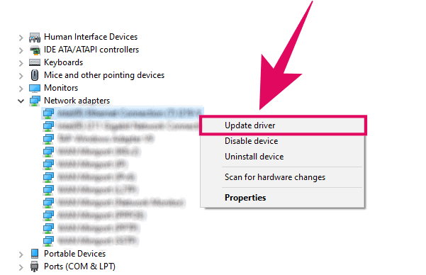 Update WiFi Adapter Driver
