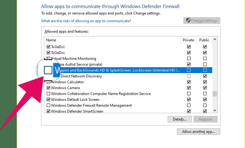 Block app in Windows 10 Firewall