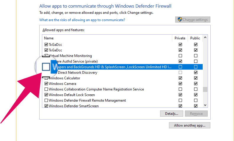 Block app in Windows 10 Firewall