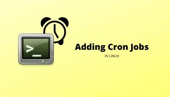 Add Cron Job Linux