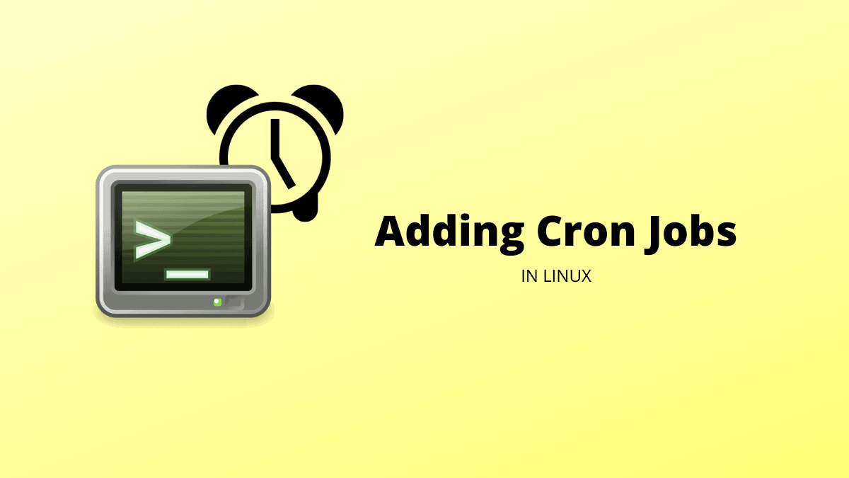 Add Cron Job Linux