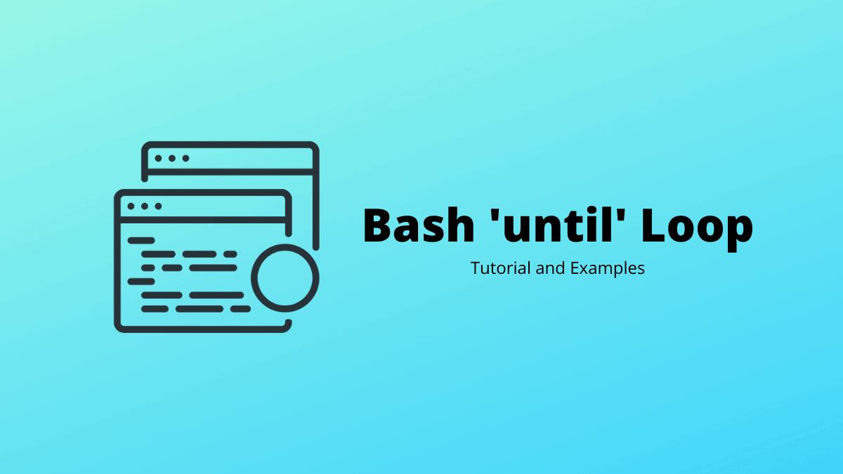 Bash 'until' Loop