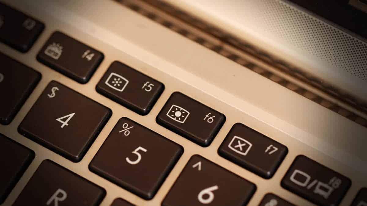 Laptop Brightness Keys