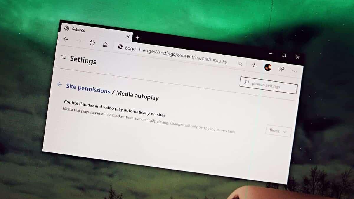 Microsoft Edge Media Auto Playing
