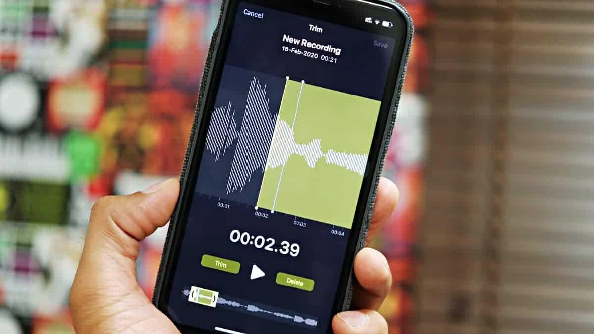 Edit Voice Memo Recording iPhone