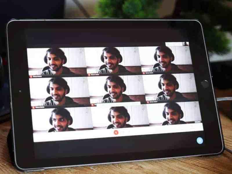 Google Meet Grid View iPad