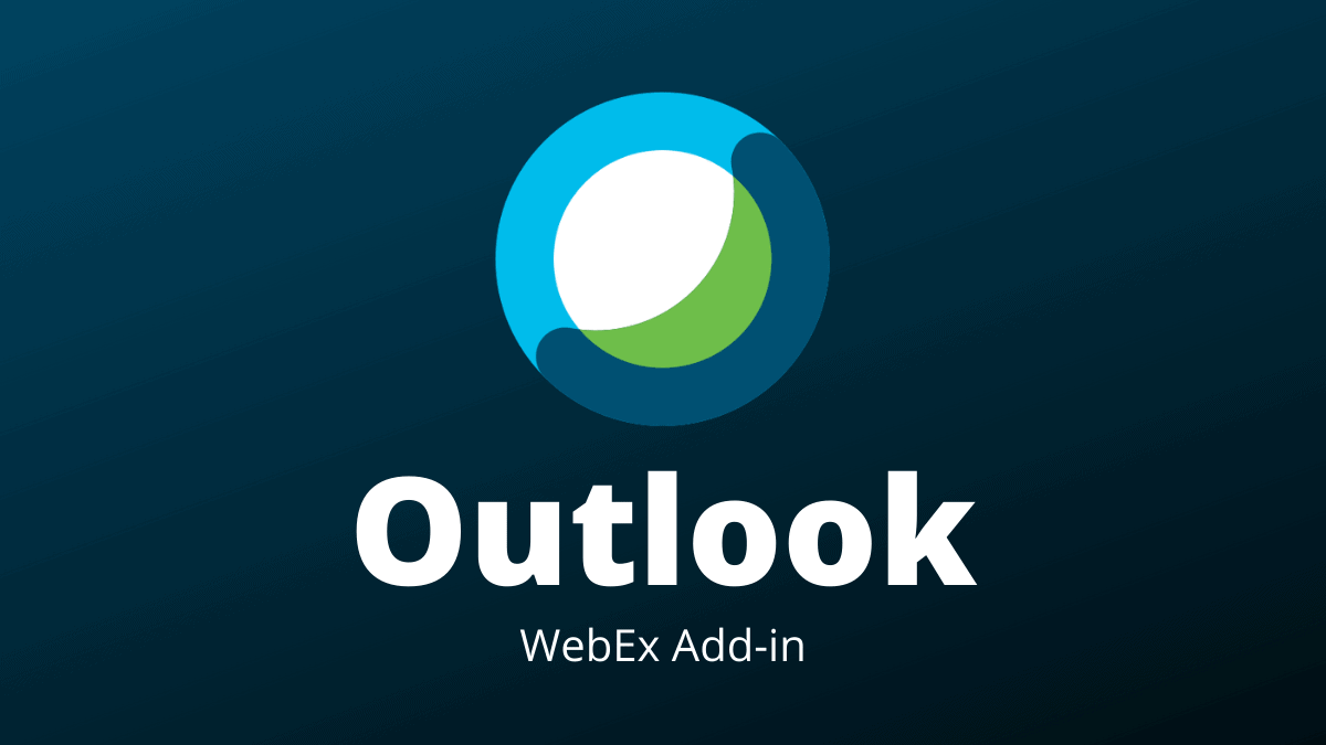 Outlook addin WebEx