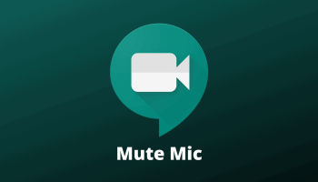 Mute Mic in Google Meet