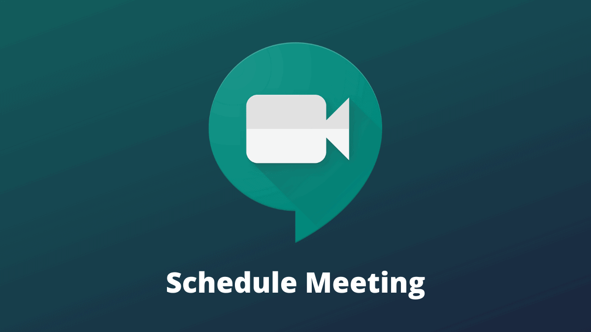 Google Meet Schedule Meeting